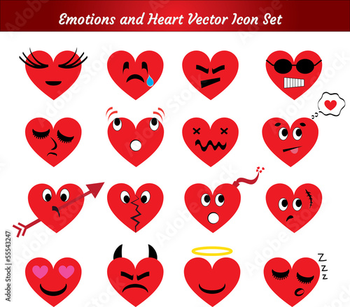 Emotions and Heart Icon Set