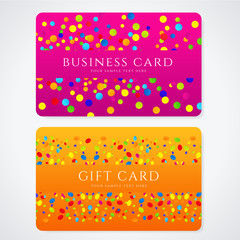 Colorful Gift / Discount / Business card template. Circle