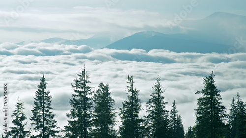 Cloudy mountain time-lapse