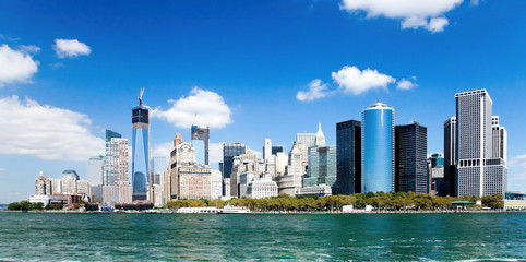 New York City Downtown w the Freedom tower