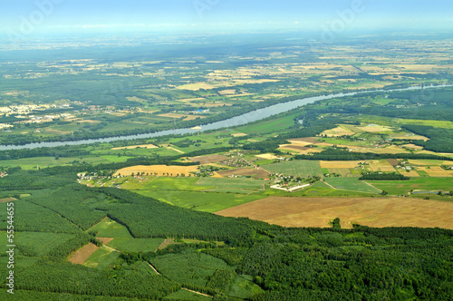 Fototapeta Aerial view - Central Poland