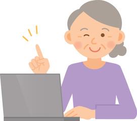 女性 シニア PC