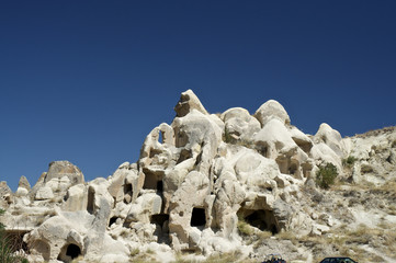 A house in the cave, turkey, cappadocia.