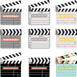 Digital movie clapper board set