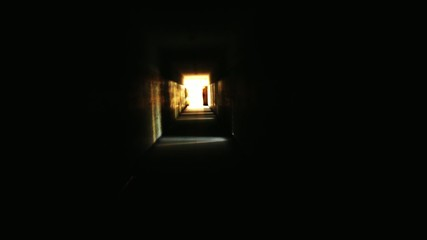 Light in Darkness Salvation Horror Concept Dark Corridor HD