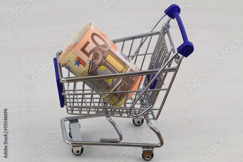 Concept of rising costs of shopping