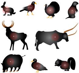 Set of Animals Paper Targets