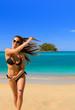 Beautiful woman on the beach.
