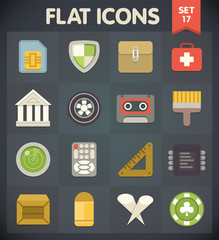 Universal Flat Icons for Web and Mobile Applications Set 17