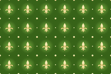 green seamless background with royal lilies