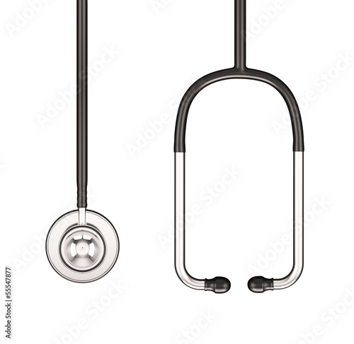 Stethoscope , Isolated on white background , 3d render