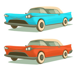 Retro cars. Vector illustration.