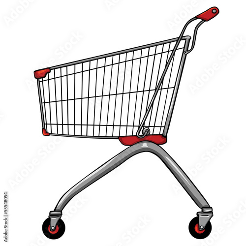 vector trolley for shopping