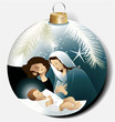 Christmas ball with Holy Family