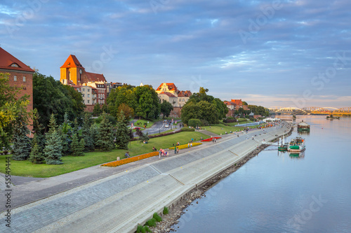 Torun old town at Vistula river, Poland