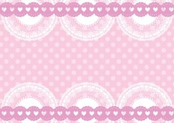 ピンクのドットレース
