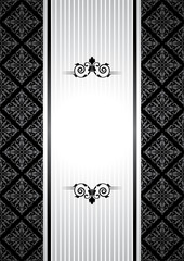 Vector black and white vintage background