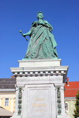 Statue der Erzherzogin Maria Theresia in Klagenfurt