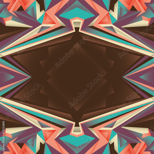 Angular abstraction with objects in color.