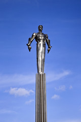 Yuri Gagarin commemorative monument.
