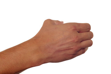 man hand holding something