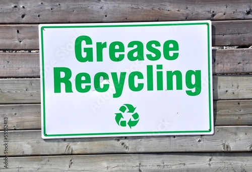 Grease recycling sign