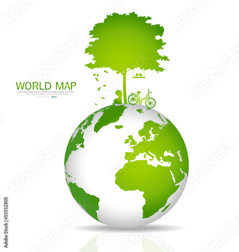 Save the world. Vector illustration