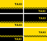 Fototapety set of taxi business cards