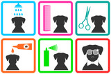 Fototapety pet care icons