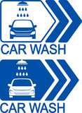 car wash icon with arrow