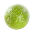 Limes on the isolated white background