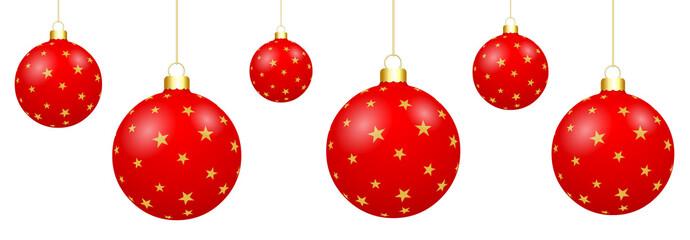 Boules de Noël rouges étoilées