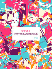 Decorative colored vector squares 2. EPS 8