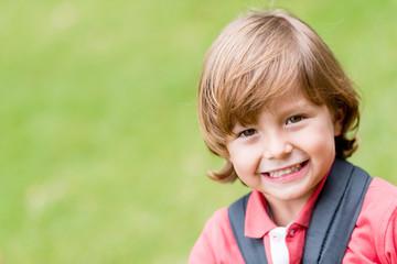 Beautiful boy outdoors