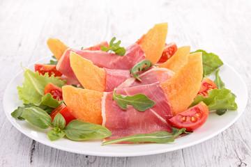melon with prosciutto ham