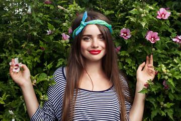 trendy teenager model with kerchief