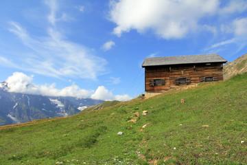 Die Hütte im Gebirge