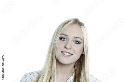 Lächelde Frau