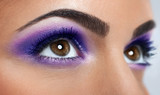 Fototapety eyes with purple makeup