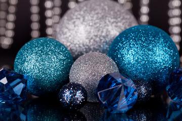 weihnachts dekoration in blau und silber weihnachten