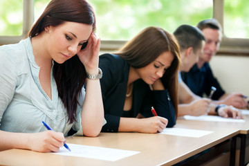 Students class have test