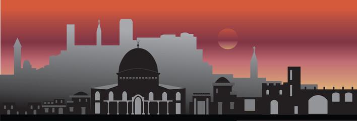 Jerusalem skyline Israel