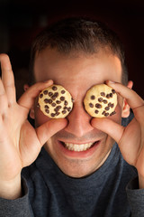 Man with Cookie Eyes