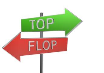 top flop panneaux 3D