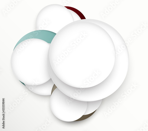 Design template with circles © Denchik