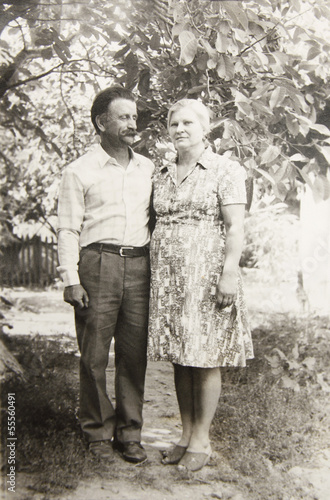 old vintage photograph couples in love