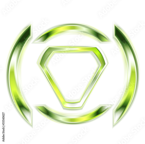Vector glowing shape