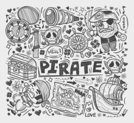 doodle pirate elememts