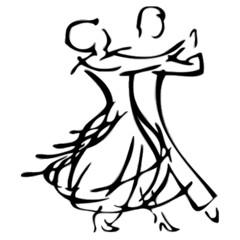 Paar Tanzen Silhouette Vektor