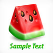 Fresh slice of watermelon on white background